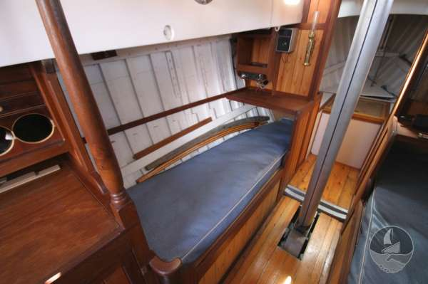Vertue Classic Wooden Yacht The saloon  - looking aft
