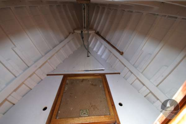 Vertue Classic Wooden Yacht The fore cabin -