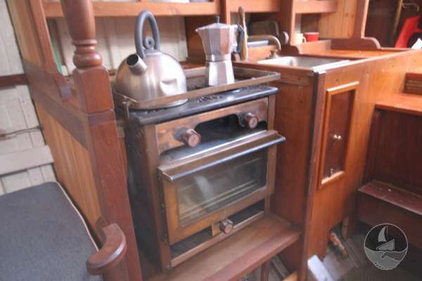 Vertue Classic Wooden Yacht the cooker -
