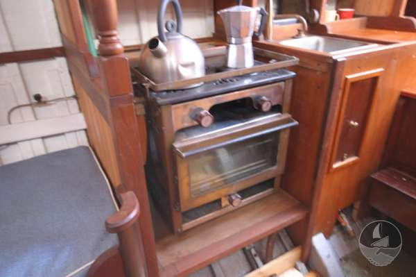 Vertue Classic Wooden Yacht Galley detail -