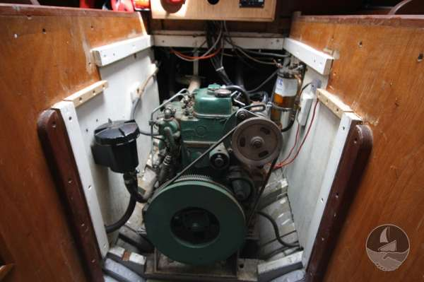Vertue Classic Wooden Yacht The engine compartment -
