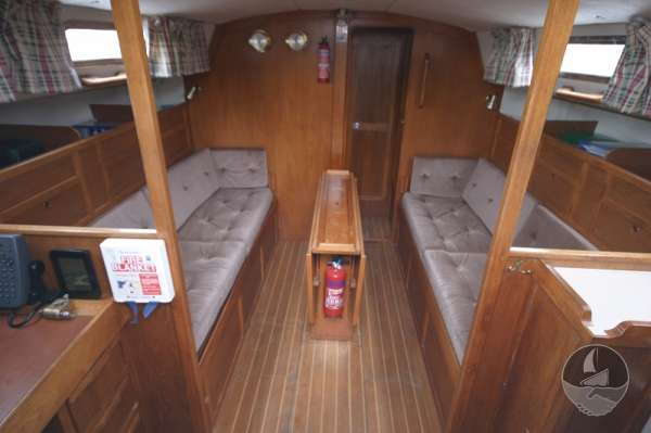 Westerly Fulmar 32 The saloon - looking forward