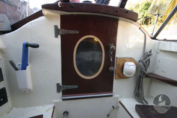 Wooden Classic 34 Cockpit view looking foreward -