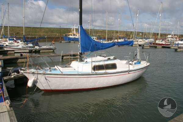 Hurley 22 Afloat on her berth -