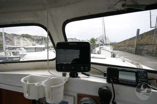 Myra Plast 21 The fishfinder and VHF -