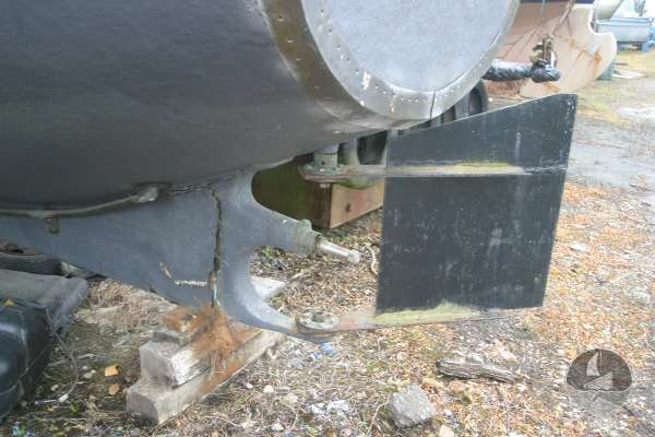 Naval Pinnace Rudder and prop shaft -