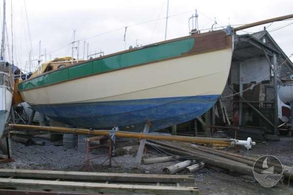 Keyhaven Yawl Starboard side view -