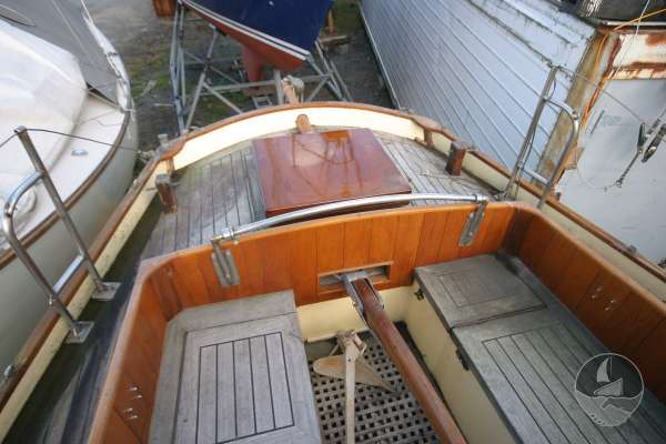 Keyhaven Yawl The cockpit -