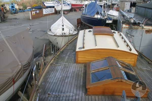 Keyhaven Yawl Deck view starboard side -