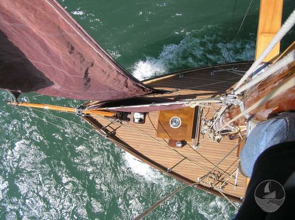 Keyhaven Yawl The view from aloft -