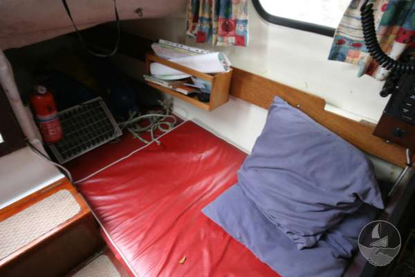 Westerly 22 Port side quarter berth -