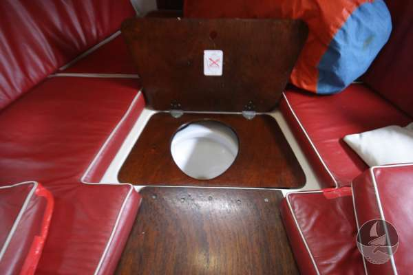 Westerly 22 With a sea toilet below -