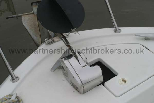 Beneteau Antares 760 Fore deck view - With anchor windlass