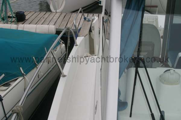 Beneteau Antares 760 Starboard side deck - looking aft