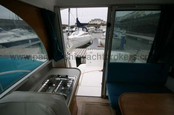 Beneteau Antares 760 Wheelhouse view - Looking aft