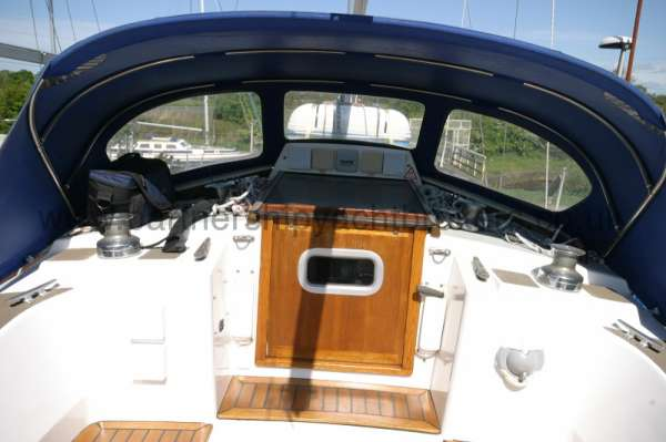 Westerly Fulmar Cockpit view -