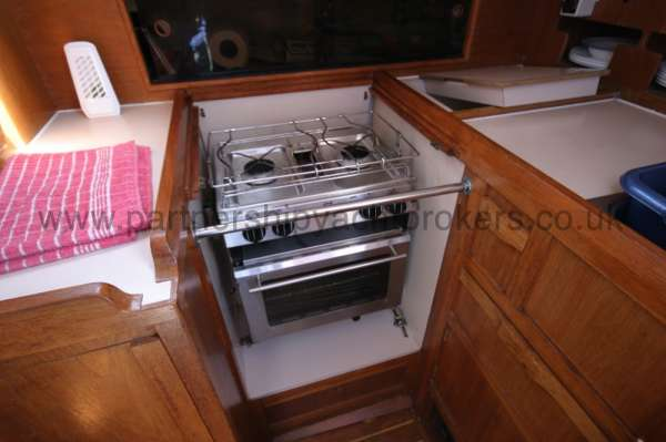 Westerly Fulmar The galley cooker -