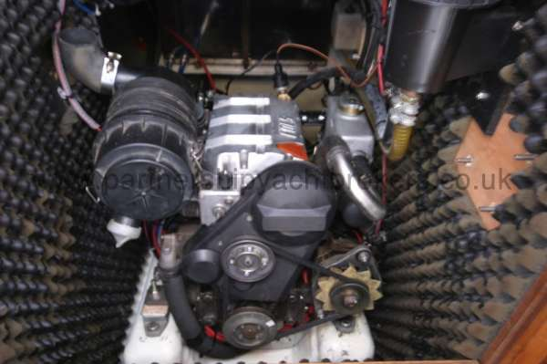 Westerly Fulmar Engine compartment -