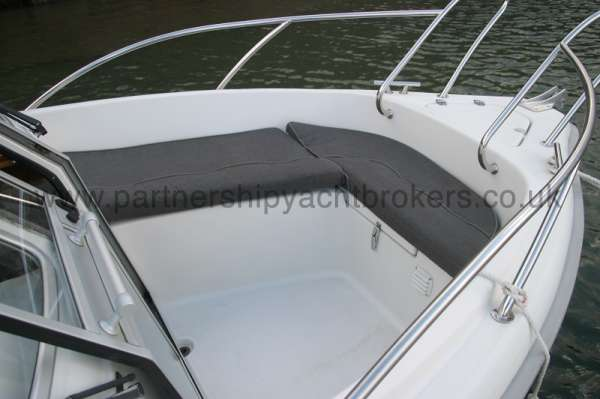 Finnmaster 61ca The fore deck -