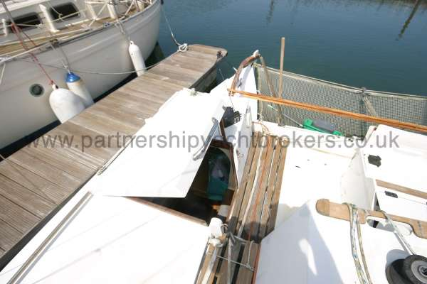 Wharram Tiki 30 entrance to the starboard hull -