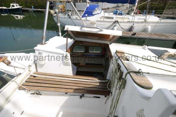 Wharram Tiki 30 The entrance to the port side hull -
