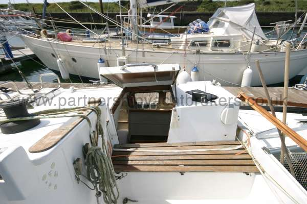 Wharram Tiki 30 the after deck -