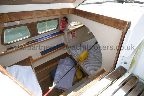 Wharram Tiki 30 The port side hull -