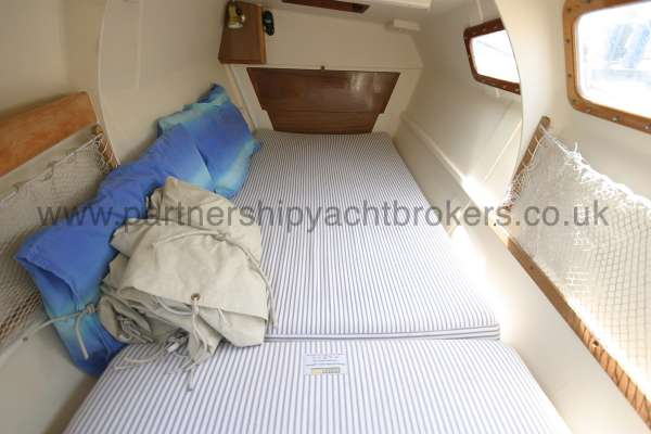 Wharram Tiki 30 The starboard hull berth -
