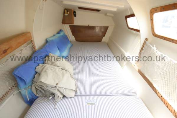 Wharram Tiki 30 The starboard hull interior -