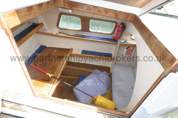 Wharram Tiki 30 entrance to the port hull -