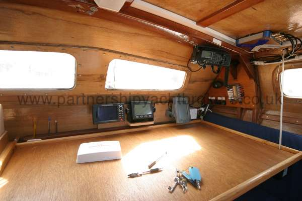 Wharram Tiki 30 The chart table -