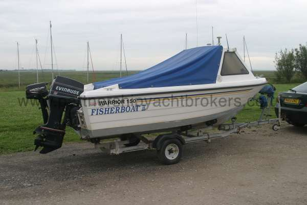 Warrior Boats 150 On her road trailer -