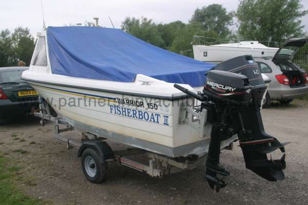 Warrior Boats 150 Stern view both engines -