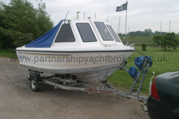 Warrior Boats 150 On her trailer -
