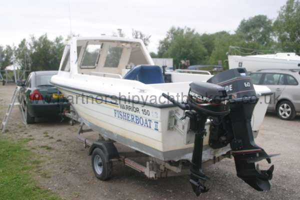 Warrior Boats 150 Stern view and both engines -