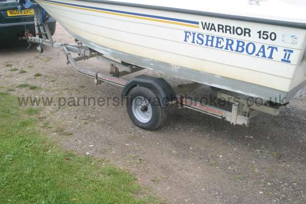 Warrior Boats 150 road trailer detail -