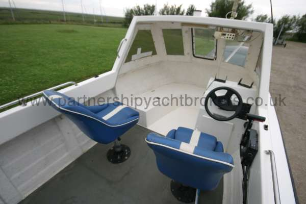 Warrior Boats 150 View from aft -