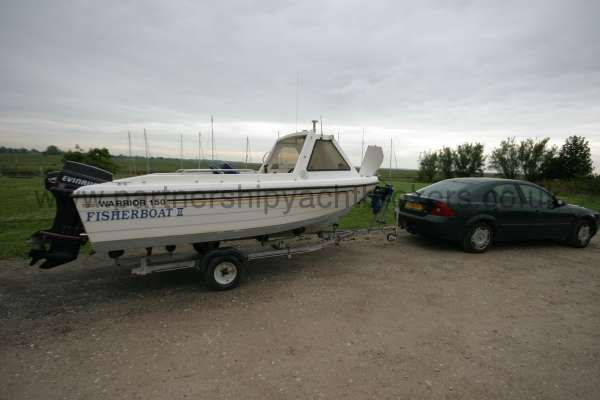 Warrior Boats 150 On her trailer ready for the road -