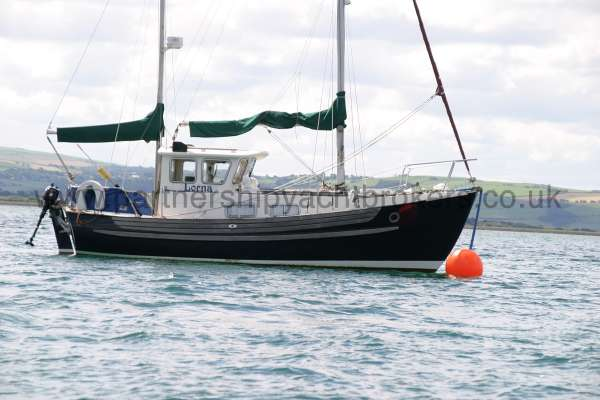 Fisher 25 On her mooring - The mooring can be part of the sale