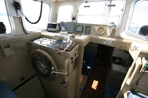 Fisher 25 The helm position -