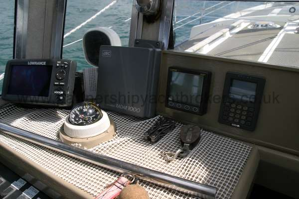 Fisher 25 Instruments at the helm -