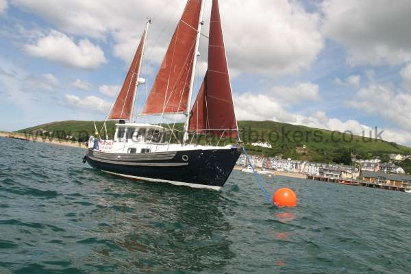 Fisher 25 All sails hoisted -