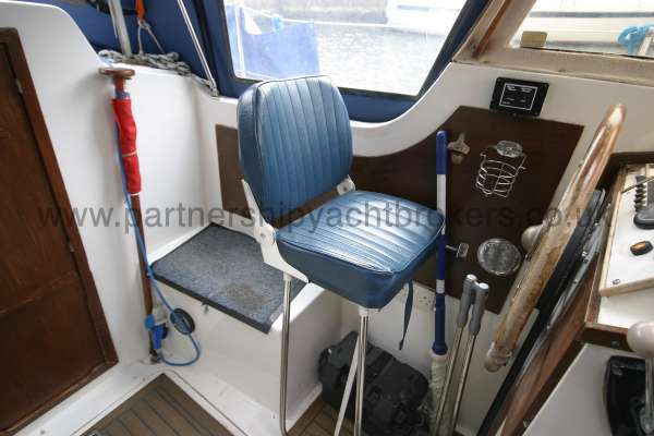 Meridian 31 The helmsmans seat -
