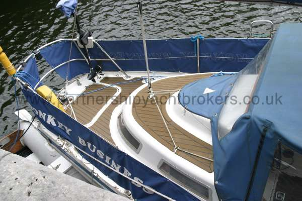 Meridian 31 The after deck -