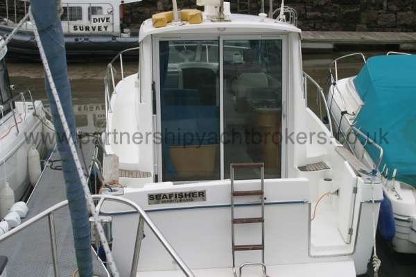 Beneteau Antares 760 Stern on view -
