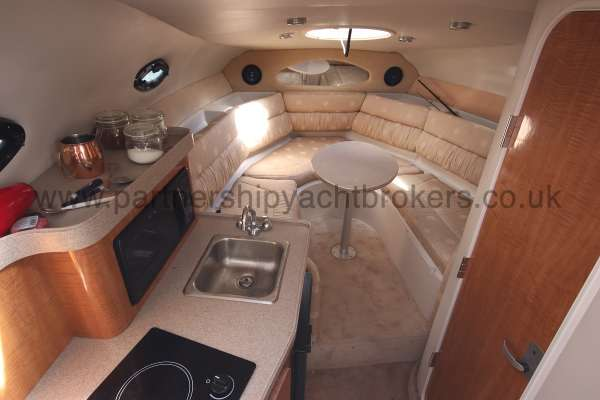 Regal 2665 Commodore The saloon and galley -