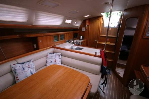 Hunter Legend 38 Saloon looking aft -