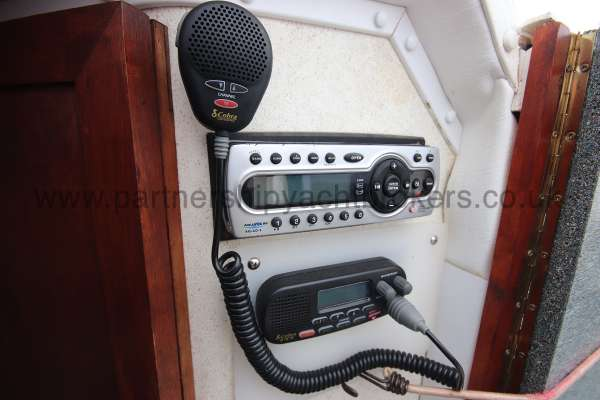 Fletcher 238 VHF radio  - and music system