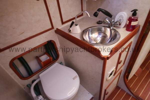 Sovereign 400 Aft heads compartment -
