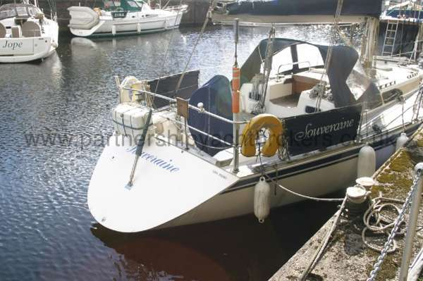 Sovereign 400 On her berth -
